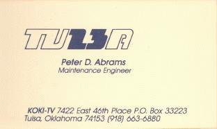 Peter  D. Abrams' business card