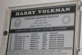 back of Harry Volkman trading card